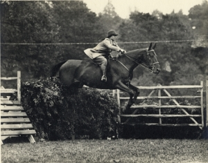 Miss Pansy riding.