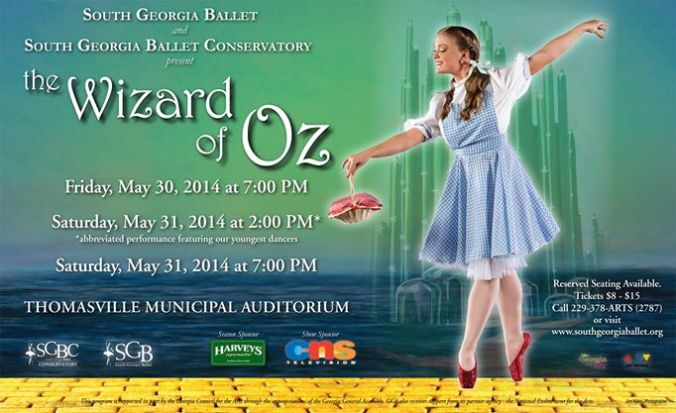 South Georgia Ballet & SGB Conservatory present The Wizard of Oz, this weekend!