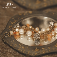 c+i pearls and coral bracelet