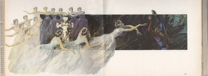 Painting of 'The Wilis' from The Royal Book of Ballet, published 1962