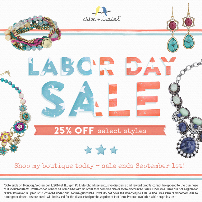 Labor Day Sale at C+I!